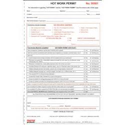 Permit To Work At Height Template by Work Permit Books Printed Docket Books For Site