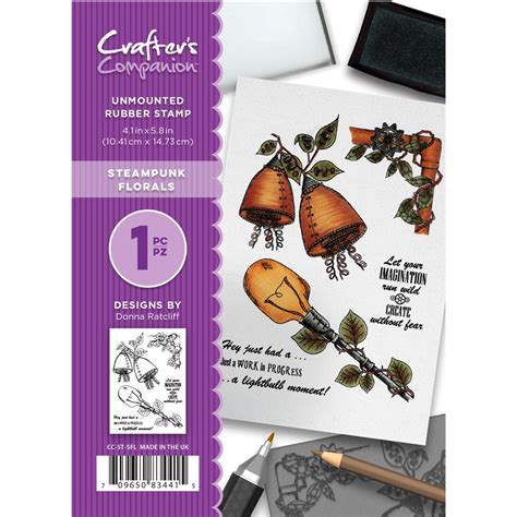 rubber st sets crafter s companion steunk florals unmounted rubber