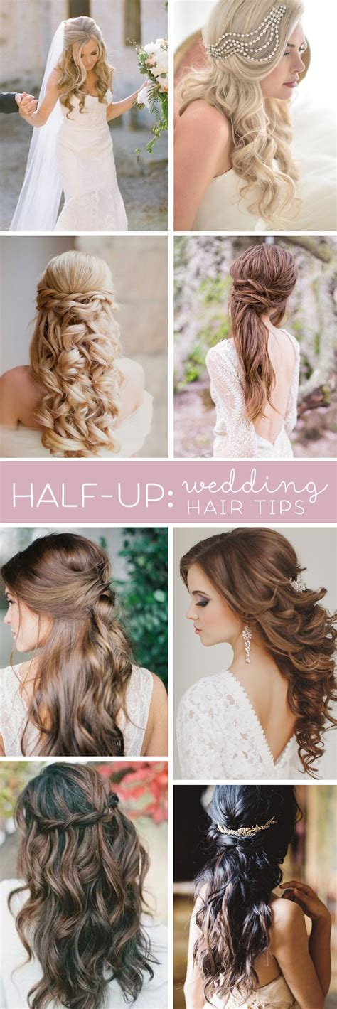Wedding Hair Wearing It by Wedding Hair Tips Half Up Half Styles