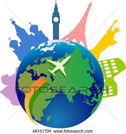 clipart mondo clipart of traveling around the world k6151704 search