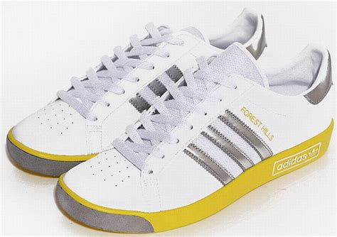 adidas forest hills adidas forest hills shoe adidas white yellow silver