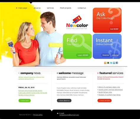Painting Company Website Template 26446 Painting Website Templates