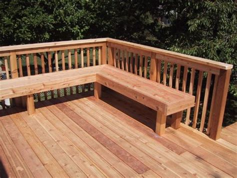 decks with benches 19 best simple decking benches ideas architecture plans
