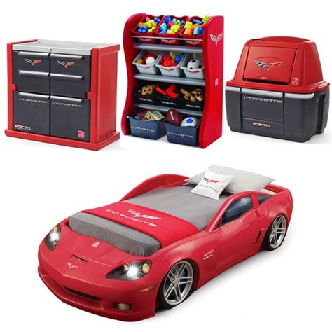 corvette bedroom decor corvette 174 bedroom combo kids furniture by step2