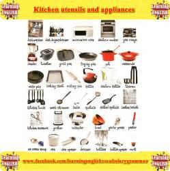kitchen items list kitchen utensils equipment and gadgets vocabulary