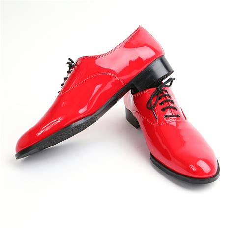 mens toe oxford lace up dress shoes glossy