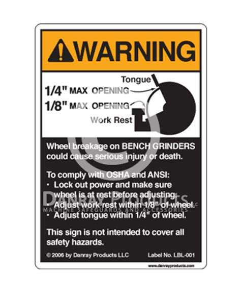 bench grinder safety rules danray products llc safety signs
