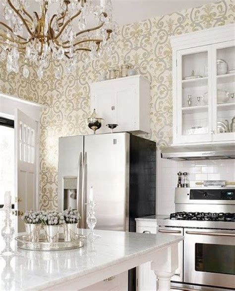 White Kitchen With Chandelier White Kitchen Vintage Chandelier Home
