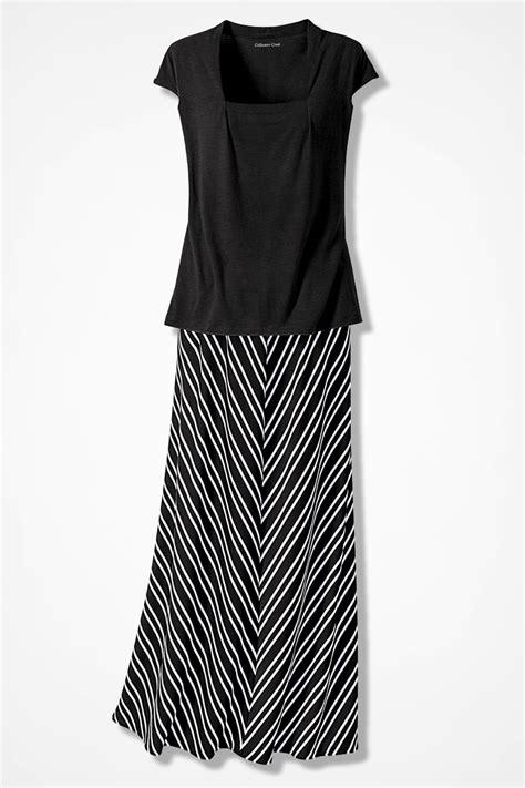 chevron striped knit maxi skirt s skirts