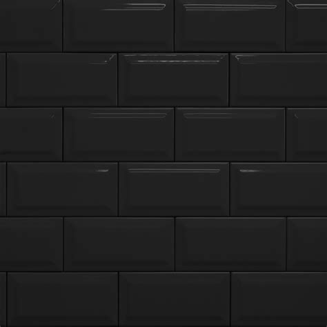 schwarze fliesen black metro tile womag