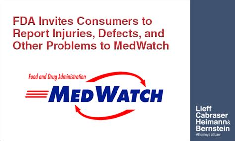 Food And Drug Administration Medwatch Report | the fda wants consumers to report problems with medwatch
