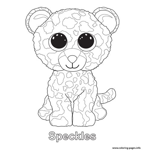 beanie boo coloring pages speckles beanie boo coloring pages printable