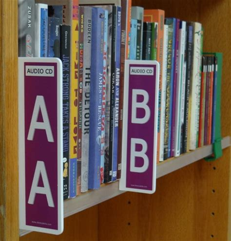 Library Shelf Signs by Fiction Shelf Signs Fiction Mini Shelf Markers All
