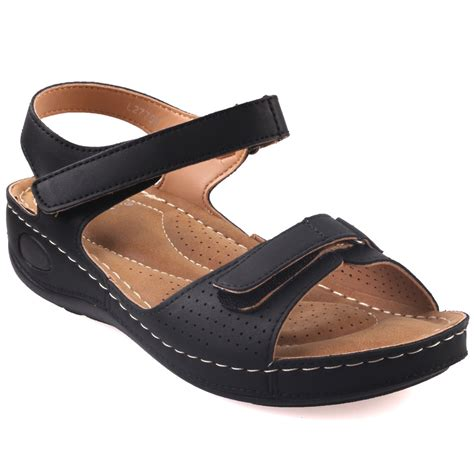 comfortable walking wedges unze womens nuty comfortable walking sandals uk size 3 8