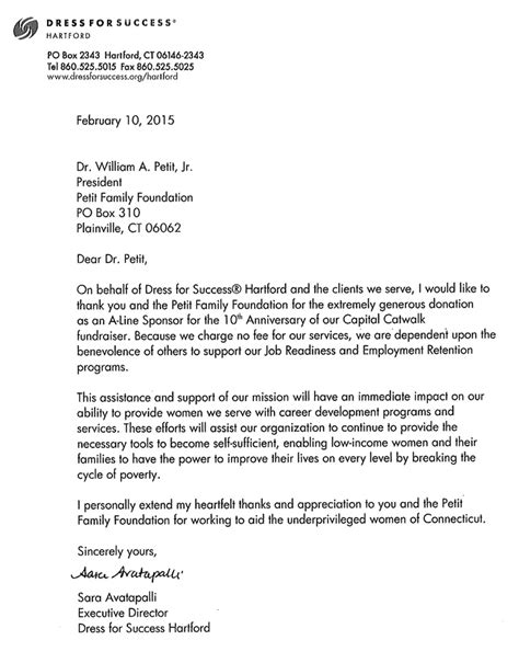 Acknowledgement Letter For Grammarian Sle Letter To Acknowledge Memorial Donation Just B Cause