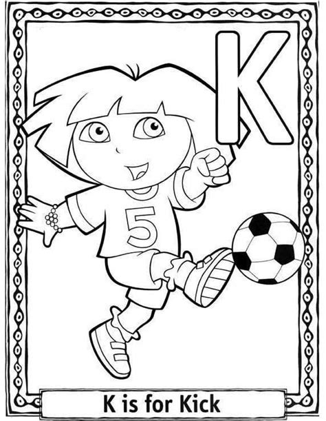 dora alphabet coloring pages letter k coloring pages to download and print for free