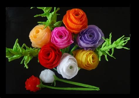 Show How To Make Paper Flowers - how to make paper flowers bouquet for s