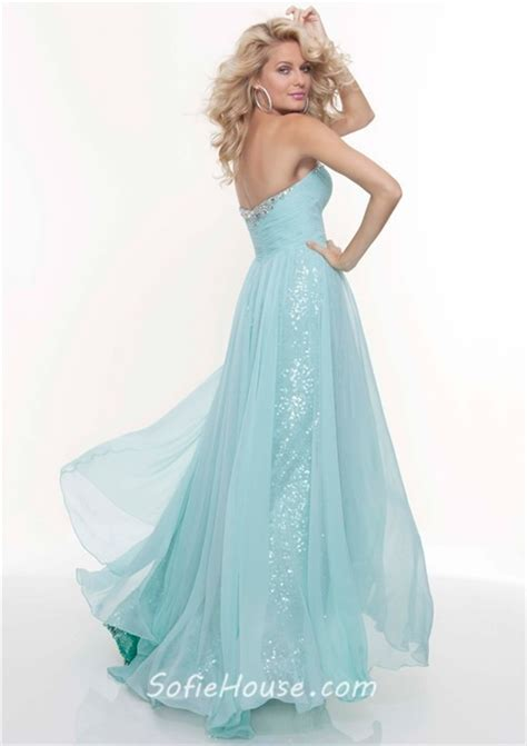 light blue flowy dress sheath pink sequined flowy prom dress with