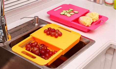 tagliere per lavello tagliere da lavandino con cestello groupon
