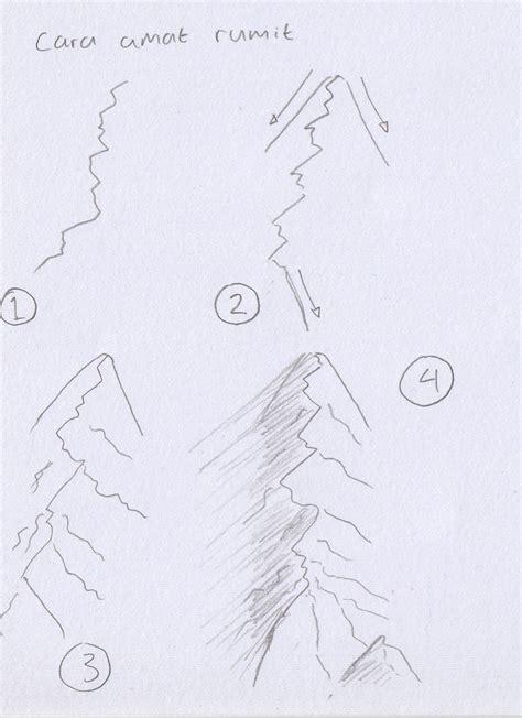 tutorial menggambar gunung tulisan imajinasi tutorial fantasi menggambar peta