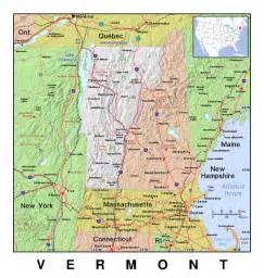 vermont united states map detailed map of vermont state with relief the state of