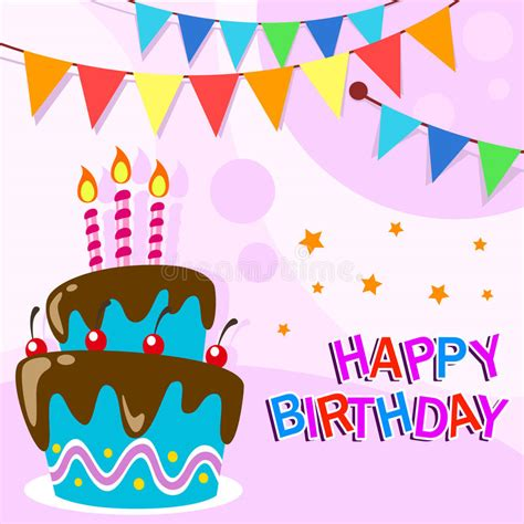 birthday candle card template vector happy birthday card template with
