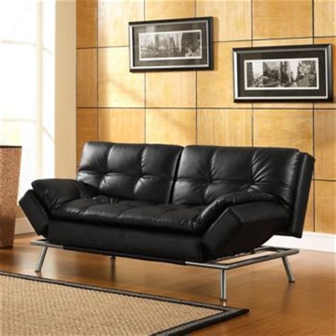 euro lounger sofa bed costco costco belize black bonded leather euro lounger office