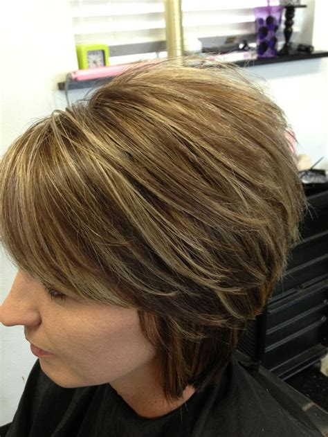 layered swing bob layered swing bob with new color for fall beauty