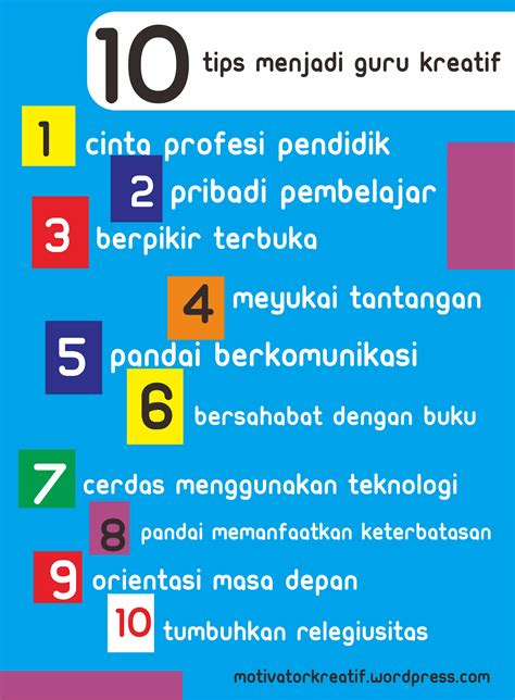 cara membuat poster yang kreatif cara menjadi guru kreatif motivator pendidikan kreatif