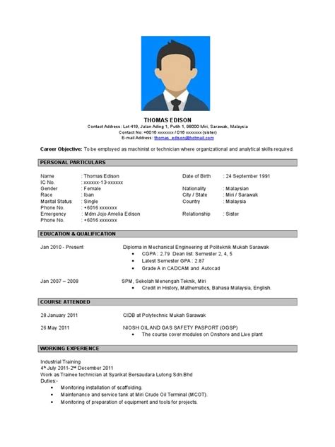 contoh membuat biography contoh resume bahasa inggeris doc sarawak business
