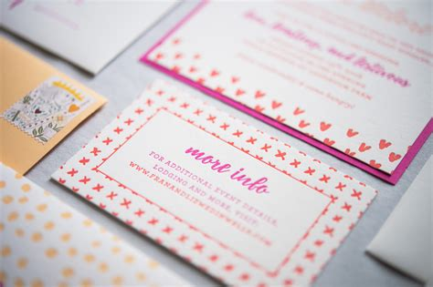 Colorful Wedding Invitations by Colorful Patterned Letterpress Wedding Invitations