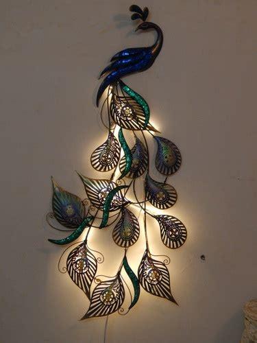 multicolor led peacock designer wall decor rs  piece