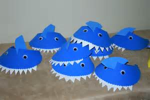 Shark Hat Craft Template by Diy Craft Shark Visors Glue Wiggly To