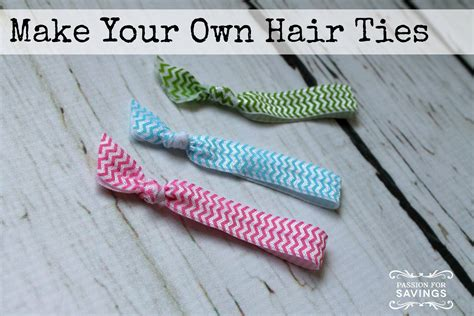 how to make your own hair ties passion for savings