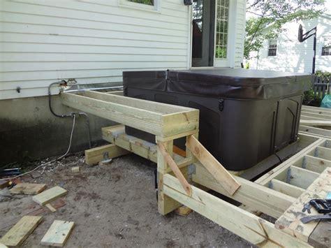 how to build a backyard deck pros of building a tub deck backyard design ideas