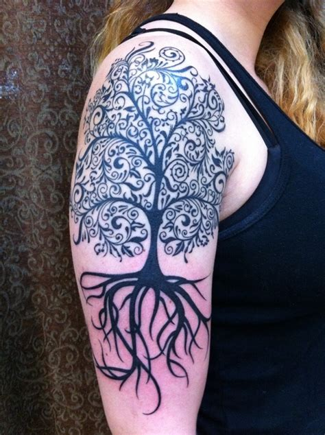 half sleeve tree tattoo designs right half sleeve done by bruce kaplan of lark in