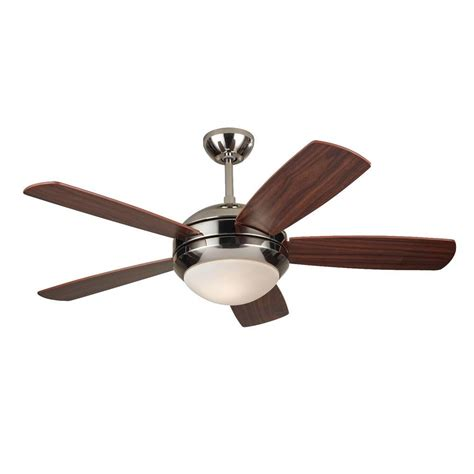 polished nickel ceiling fan monte carlo discus ii 44 in polished nickel ceiling fan