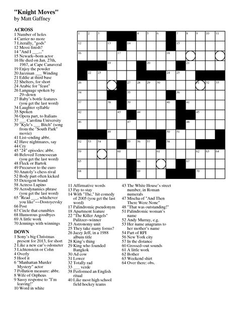 usa today crossword march 17 mgwcc243 matt gaffney s weekly crossword contest