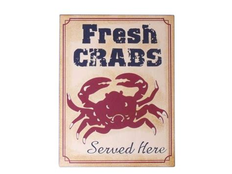 wholesale home decor signs wholesale metal fresh crabs sign 13 quot model ship assembled