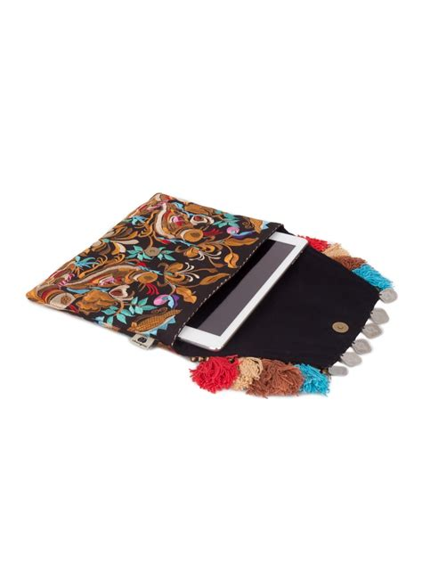 Clutch Handmade - handmade pom pom clutch purse with hmong hill tribe