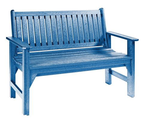 blue outdoor bench generations blue garden bench from cr plastic b01 03