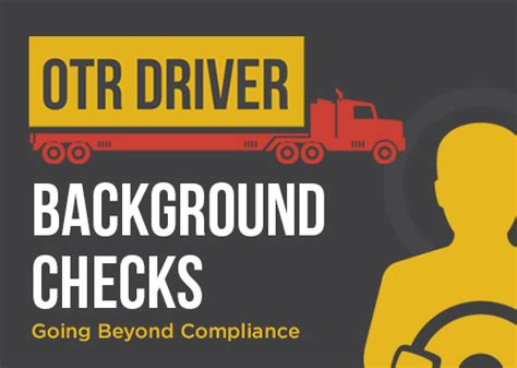 Drivers Background Check Background Screening Regulations Proforma Screening Solutions