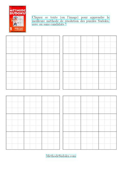 Grille Sudoku Net by Gratuit Grilles De Sudoku Vides 224 Imprimer Quatre
