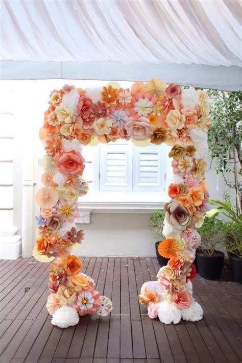 Handmade paper flower wedding arch   Outdoor Wedding Decor