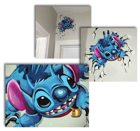 stitches painting stitch mural by angie daley more amazing disney murals