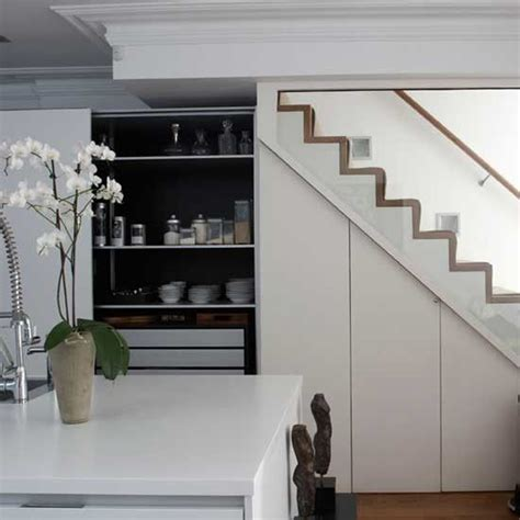 Kitchen Design With Basement Stairs Kitchen Storage Understairs