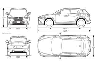 dimensions of the mazda cx3 autos post