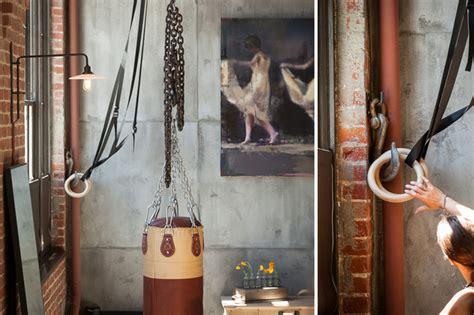 Home Decorators Lighting Clocktower Loft Industrial Home Gym San Francisco