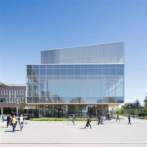 Interior Design In British Columbia University vancouver university building by kpmb features fritted