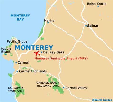 san jose monterey map monterey maps and orientation monterey california ca usa